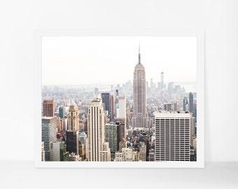 New York City Skyline Printable Photography, NYC Printable Art, Manhattan Printable Poster, Instant Download, Modern Wall Art