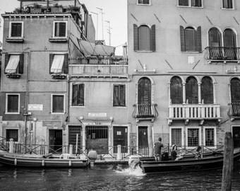 Venice Photography, Italy Photography, Venice Canals, Fine Art Print Italy, Italy Print, Black and white, Venice Print, Venice Wall Art, B&W