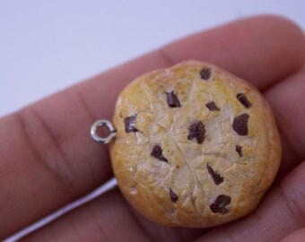 Realistic Cookie Polymer Clay Charm.