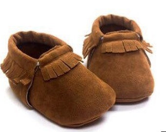 Infant mocassins - camel
