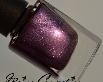 Karaoke At Cat's - Dark Purple Duochrome Sparkle Nail Polish