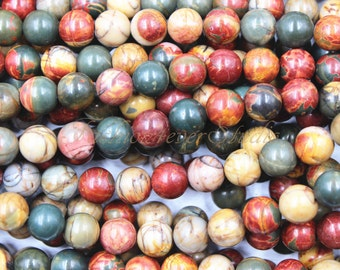 Picasso Jasper Beads, 6mm 8mm 10mm Full Strand 15.5 inches, Gemstone Beads, Beading Suppliers, Jewelry Suppliers