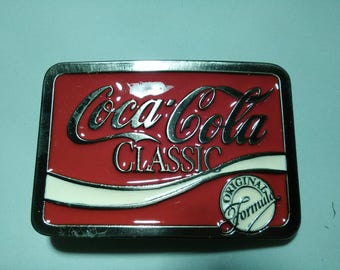 Classic Coca Cola belt buckle