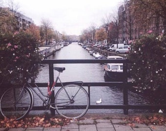 Amsterdam Photograph, City Photography, Canal Print