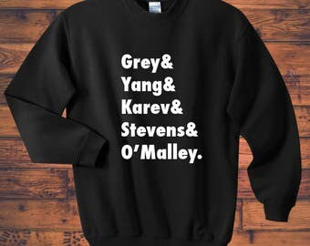 Gray Yang Karev Stevens O'Malley Christina and Meredith It's a beautiful day to save lives anatomy custom sweatshirt