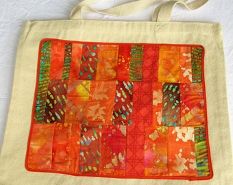 Colorful Resuable Tote Bag, Grocery Bag
