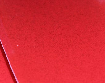Red Glitter Vinyl Fabric , embroidery fabric , Bag making ,