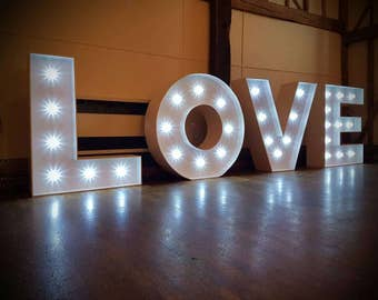 Love sign, weddings, birthday , events,bespoke, Handmade in England