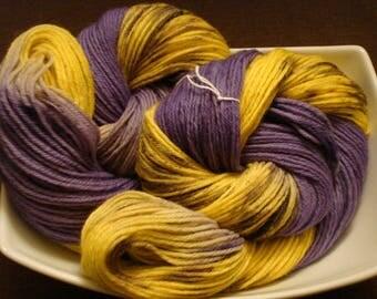 FUZZY WARM WORST yarn, Hand Dyed Yarn, Peruvian Wool, Color - Lilac Dreams, 220 yds