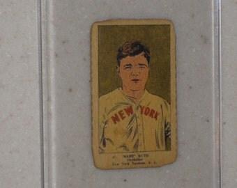 1923 515-1 Babe Ruth Strip Card in Screwdown Case