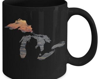 Great Lakes Coffee Mug - Sunset Over Water