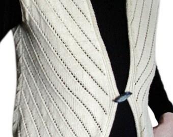 Women cotton crochet vest