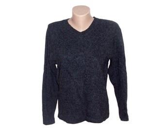 Vintage women tops blouses sweater 80% wool