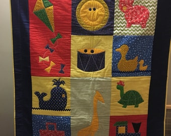 ON SALE: Whimiscal Baby Quilt