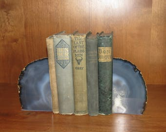 Gray geode bookends