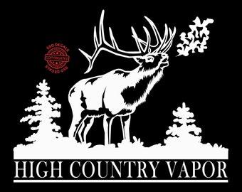 High Country Vapor Vinyl Elk Decal