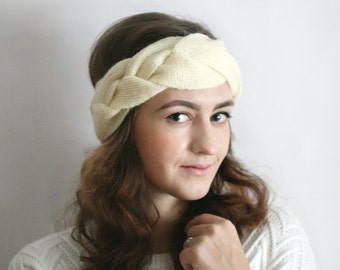 Knit Headband,  Knit Beanie, Turban, Cute Turban Headband, Ear Warmer, Winter Hairband