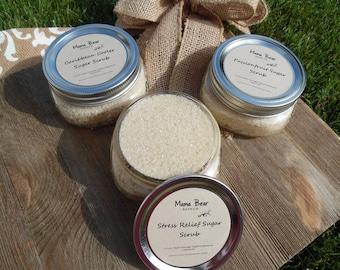 SALE Scented Sugar Scrub - Loose Sugar Scrub - Stress Relief Scrub - Passionfruit Scrub - Carribean Cooler Scrub - Clean Sugar Scrub