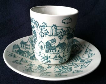Nymolle Art Faience Demitasse Cup and Saucer