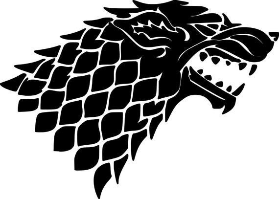 Vinyl Decal Sticker - House Stark decal inspired by Game of Thrones GOT for Windows, Cars, Laptops, Macbook etc