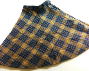 Wool SkiRt XS S 70s VinTage winter rock wool 70s OldschOol high waist retro HipSter