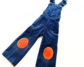 DunGarEes size 2Y vintage Boy RetRo oldSchoOl LatzHose Cord 86 hipSter