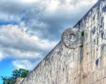 Mexico Photograph - A view of the Ball Court at Ancient Mayan Chichen Itza