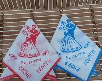 Vintage napkins, Wedding souvenirs,gift ideas,custom printed, authentic