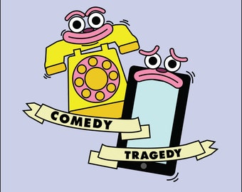 Comedy Tragedy - Original Art Print