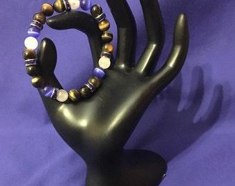 Blue Tigereye Multi Gemstone Bracelet