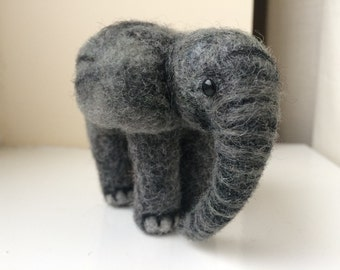 Baby elephant - needle felted soft sculpture