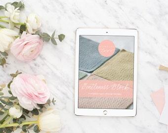 Gentleness Block Crochet Pattern - washcloth, block, afghan block, square crochet pattern - pdf