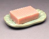 Sage Green, Soap Dish, Ceramic Soap Dish, Pottery Soap Dish, Soap Keeper, Soap Tray, Bathroom Soap Dish
