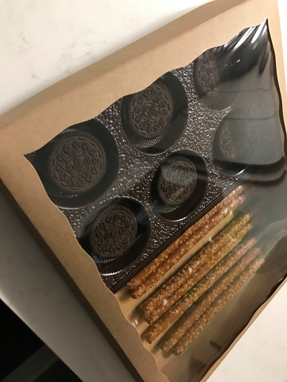 Custom Photo Chocolate Covered Pretzels and Oreos - you choose colors and design!