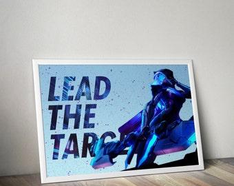 Ashe Posters, League of Legends, LoL Poster, League of Legends Art, League Gifts