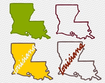 Louisiana svg, Louisiana state svg, American States svg, Home svg, SVG Files, Cricut, Cameo, Cut file, Files, Clipart, Svg, DXF, Png, Eps