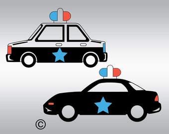 Police Car Svg Etsy