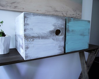 Rustic boxes for display or storage, for indoor use only