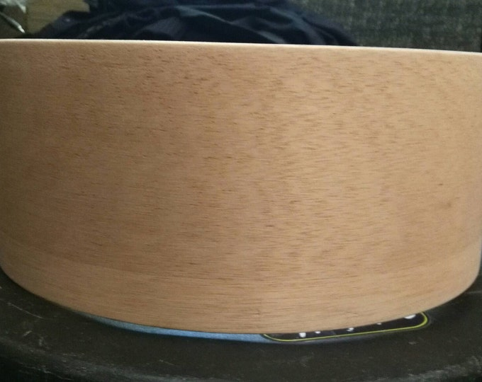 14x5.5 vintage 3 ply phillipian mahogany snare drum shell first production shell by erie drums