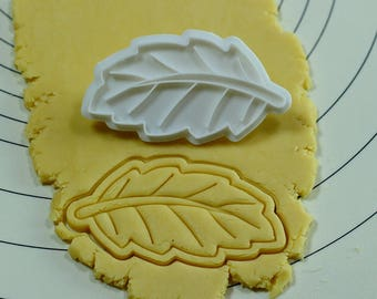 Leaf Cookie Cutter and Stamp