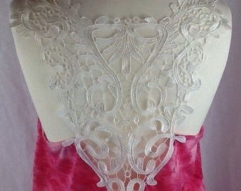 Pink lace back burnout long jersey top size 10/14