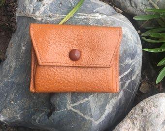 Vintage Mini Wallet For Coins, Mini Purse, Vintage Coin Purse, Leather Wallet, Vintage Accessory, Brown Wallet, Tiny Wallet