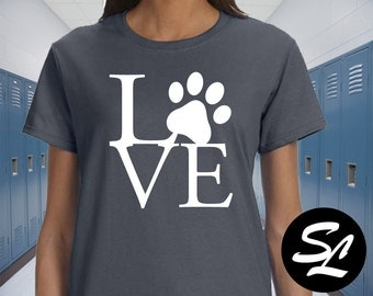 Love Paw Women's Ultra Tee shirt animals kitty cats puppies kittens dogs tigers lions show your love for the animal world