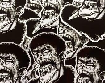 Going Berserk - Evangelion 1 And Guts Mashup Vinyl Sticker Pack of 3