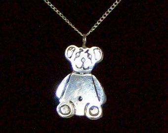 "Sterling Silver Bear, with 16"" chain."