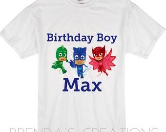 Pj Masks custom tshirt, pj masks Birthday shirt, pj mask birthday outfit, pj masks, pj masks Birthday outfit