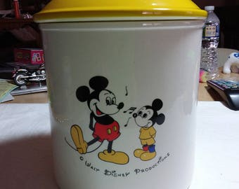Vintage Mickey mouse cookie jar, made in Japan, Walt Disney productions.  Estate found.