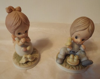 Little Girl and Boy Figurines from Lefton