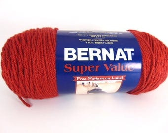 Redwood Heather - Bernat Super Value worsted weight acrylic yarn - 3042