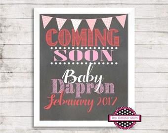 Coming Soon/Pregnancy Announcement/Pregnancy Reveal/Social Media Announcement/Facebook Announcement